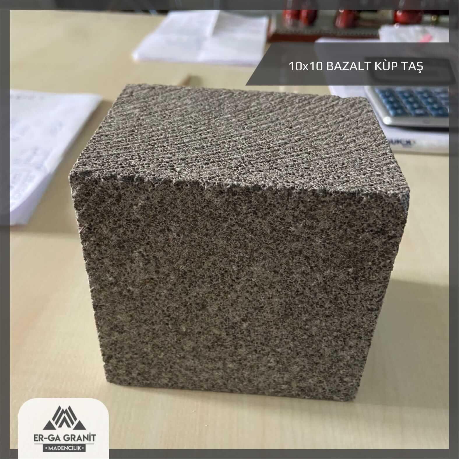 sulu kesim bazalt küp taş 10x10