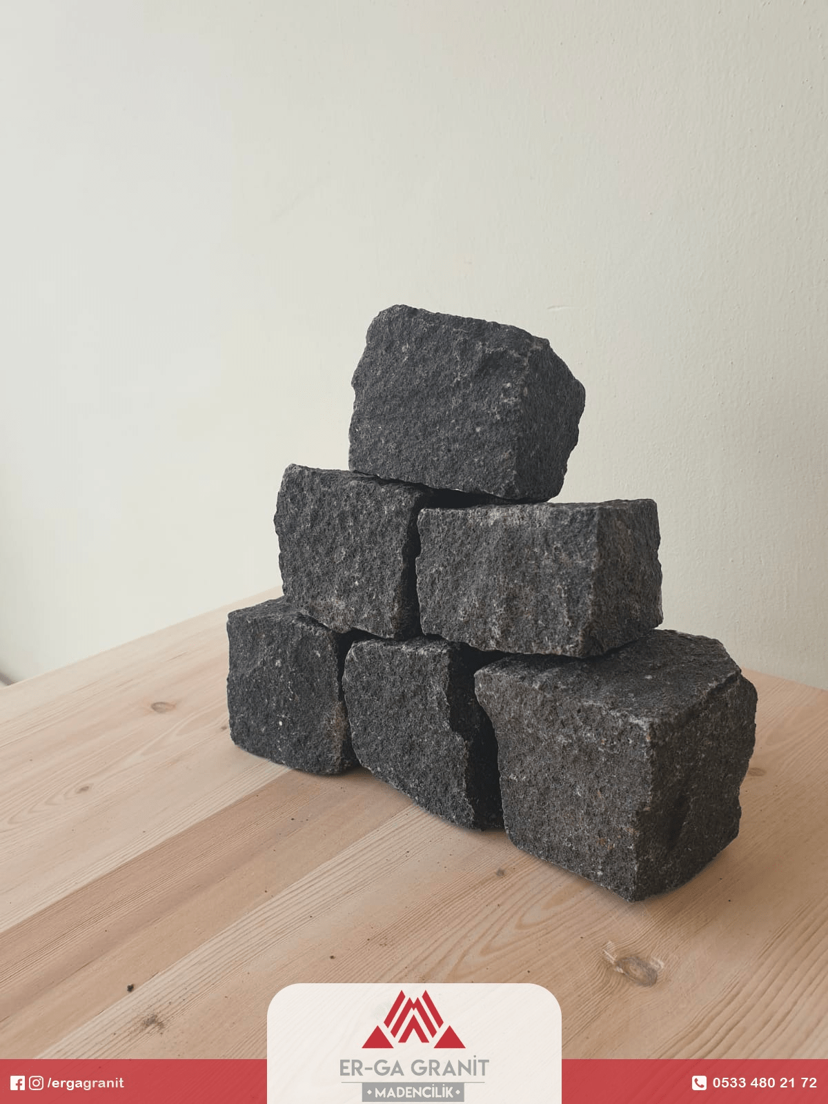 Bazalt küp taş 4 x 6