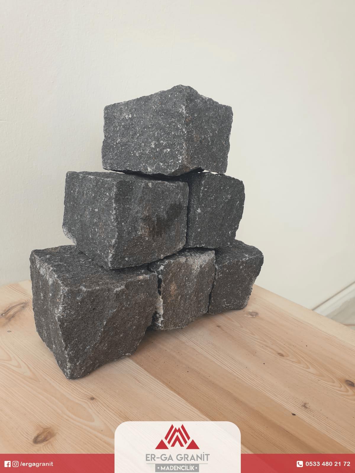 Bazalt küp taş 6 x 8