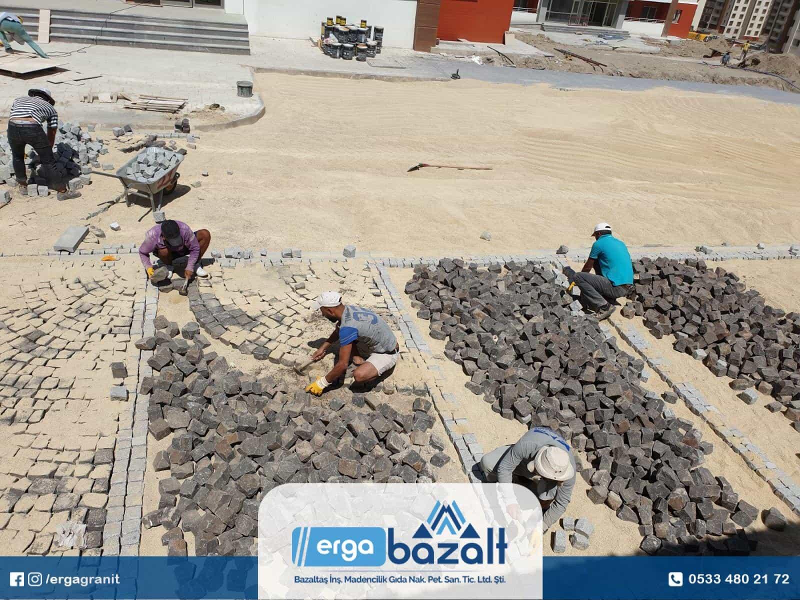 Ankara Sincan Bazalt küp taş
