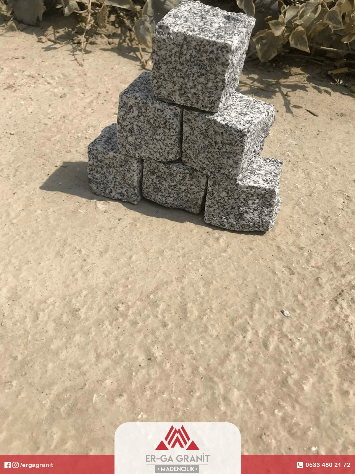 Granit küp taş 6x8