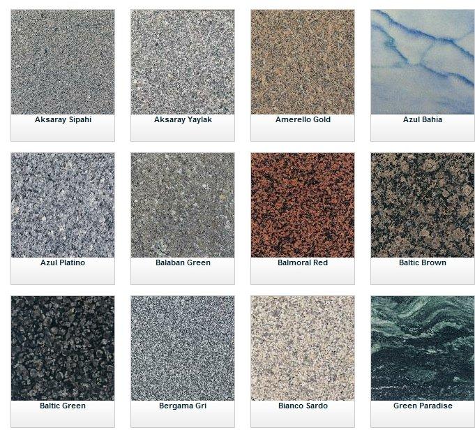 Granit Taş Modelleri